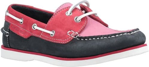 Hush Puppies Hattie Lace Ladies Shoes Pink / Navy